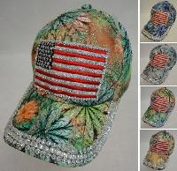 Lace Floral Hat with Bling [Flag]